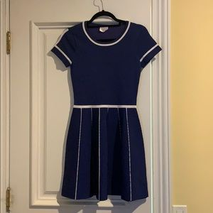 Parker blue mini dress
